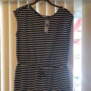 Michael Kors Blue & White striped dress